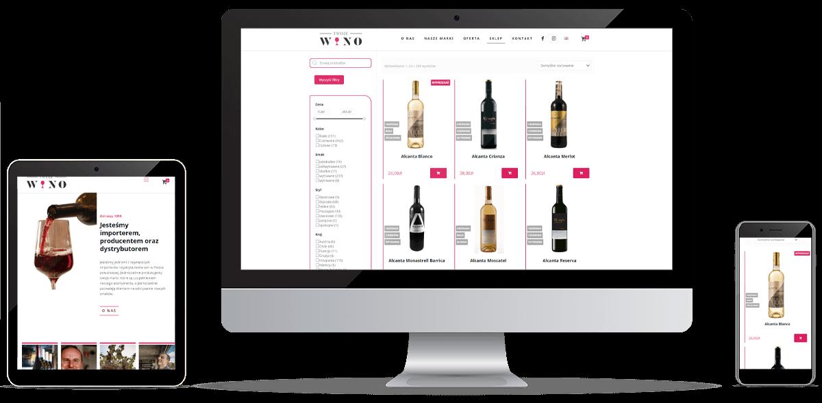 Realizacja strony Twoje wino