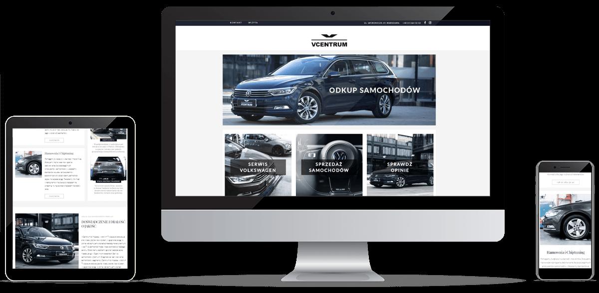 Realizacja strony Volkswagen VCentrum